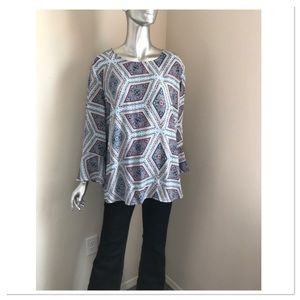 Tunic with Bell Cuffs, NWOT